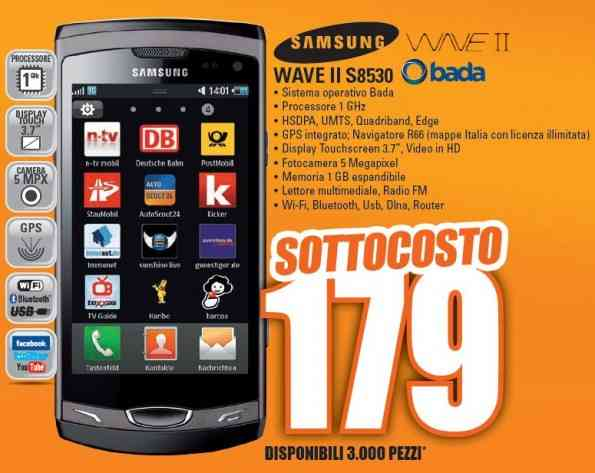 Wave S8530 in offerta a 179€ da Marcopolo Shop