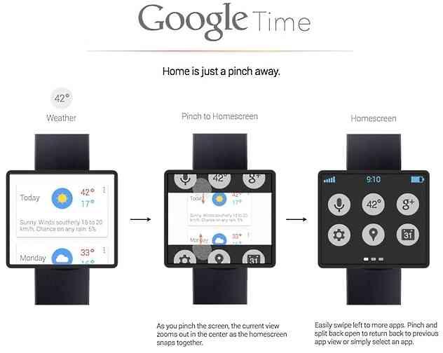 Google Time smartwatch Concept 1