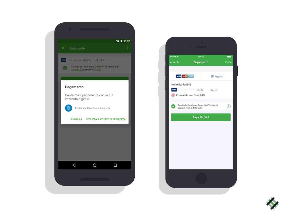 Captain train introduce il pagamento veloce smartphone for Italia mobile